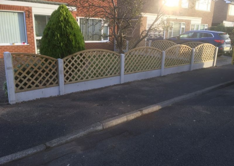 Bow top trellis fencing: Swipe To View More Images