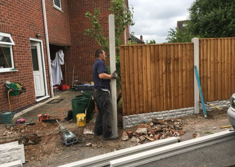 Fence installation: Swipe To View More Images