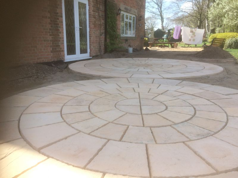 Circle paving: Swipe To View More Images
