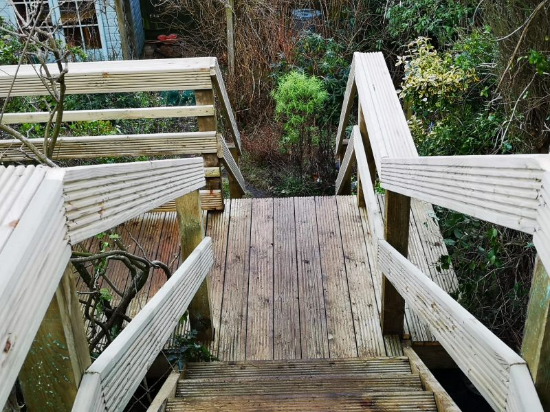 Decking stairs: Swipe To View More Images