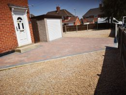 Block paving and gravel