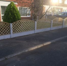 Bow top trellis fencing: Click Here To View Larger Image